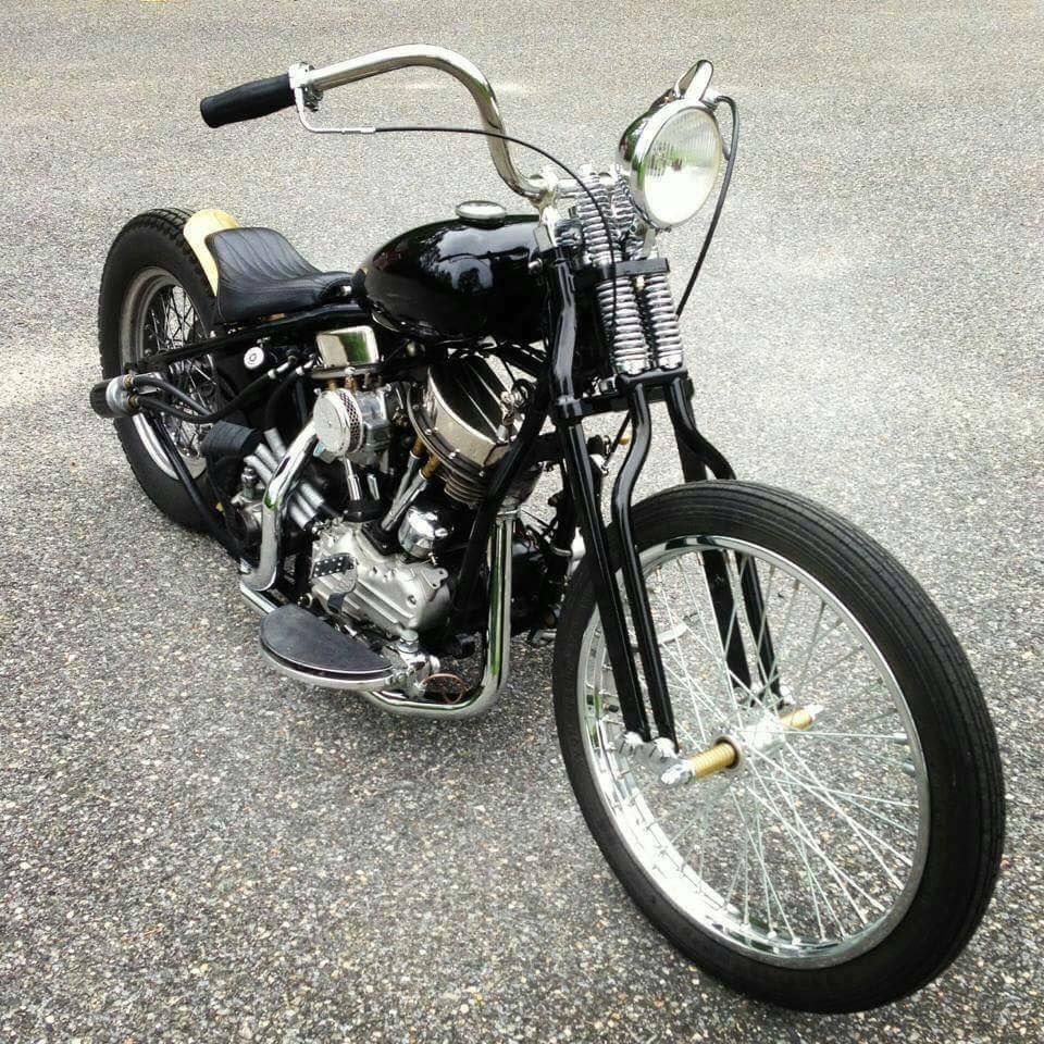 "Custom Harley-Davidson FL ""Panhead"" rigid chopper 
