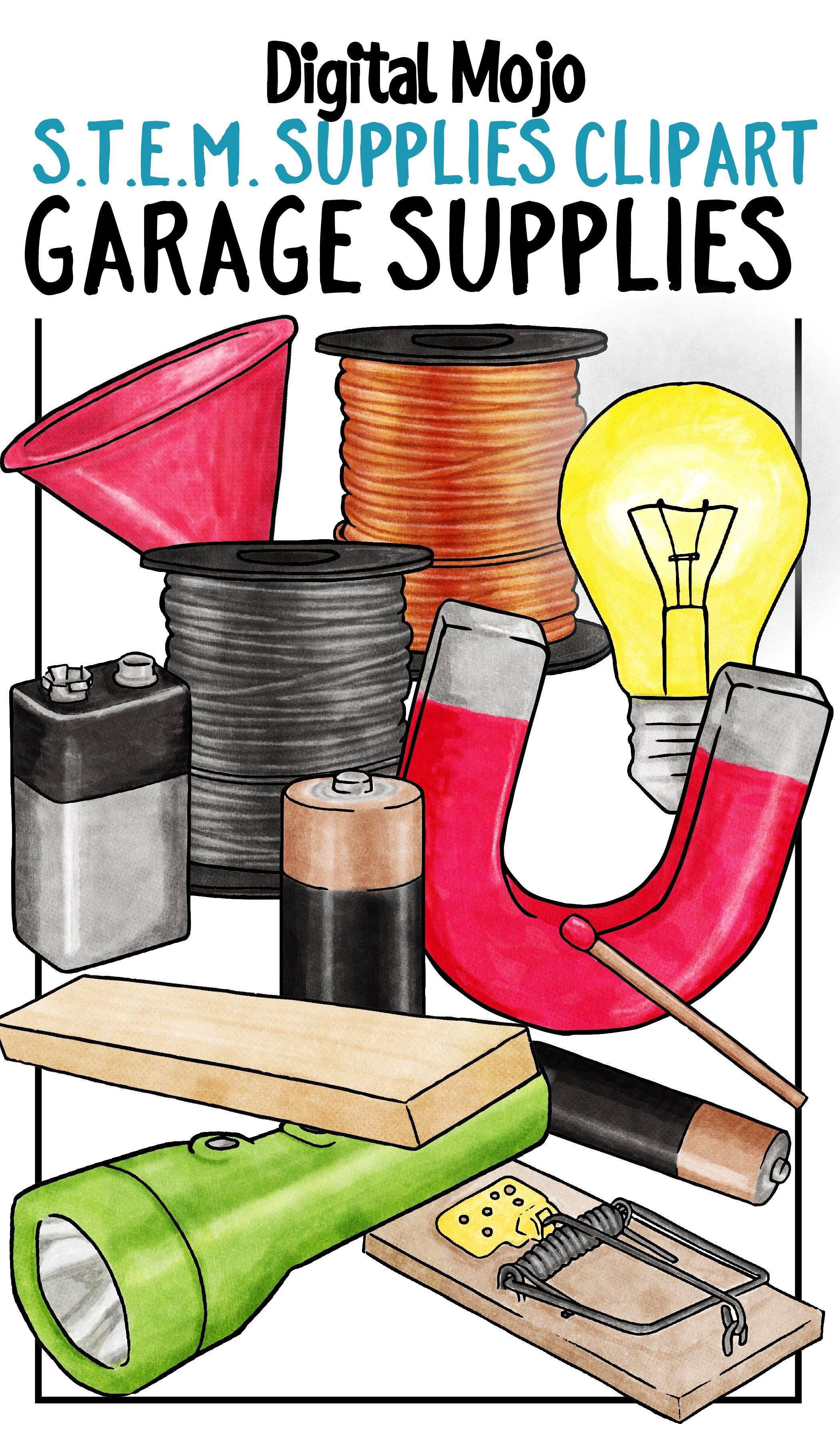 STEM Garage Supplies Clipart | Clipart for Teachers | Pinterest ...