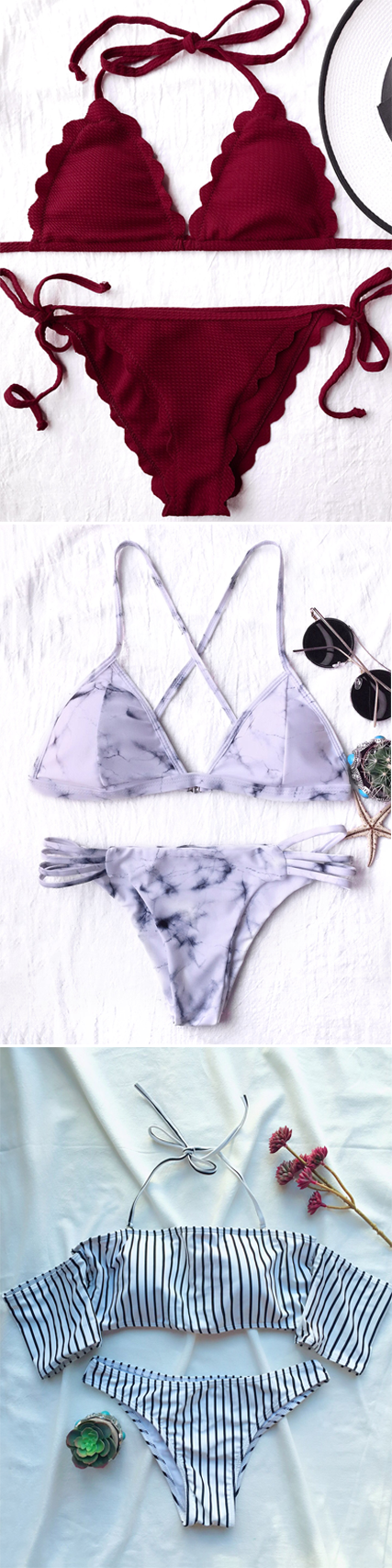 Swimwear in Zaful |swimsuits,bathing suit,bikini,bikini set,one pieces,swimwear 2017,beach outfit,bikinis,beach,beach wear,Hawaii,summer bikinis | #Bikini