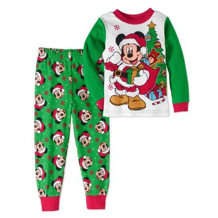 Mickey Mouse Christmas snug fit PJs infant sizes