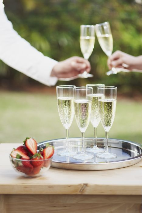 Sometimes purchasing glassware for an event is more cost effective than renting, and the bonus is that you can use it again for future celebrations or allow your guests to bring pieces home. If you're planning a DIY wedding, toast to your love and budget savvy with SVALKA champagne flutes.