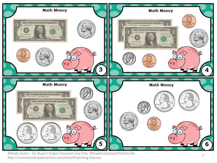 FREE Money: Here are six common core math money task cards to help ...