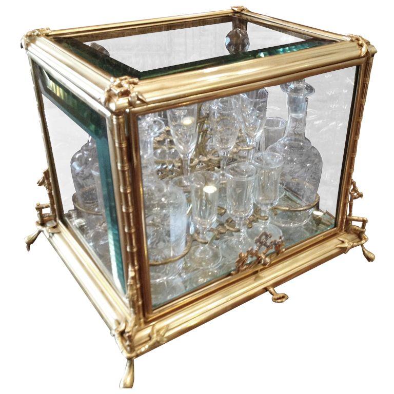 1stdibs | 19thc French Gilt Bronze and Crystal Tantalus Set