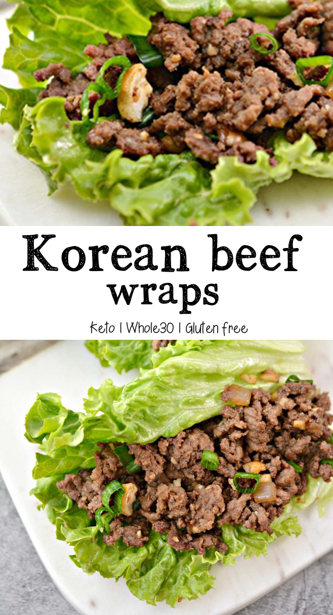 Korean Beef Lettuce Wraps Keto Whole30 Gluten Free Mom Makes Dinner Lettuce Wrap Recipes Beef Lettuce Wraps Korean Beef