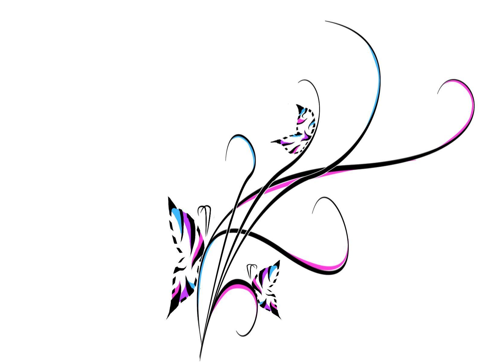 Abstract Swirl Tattoo Designs