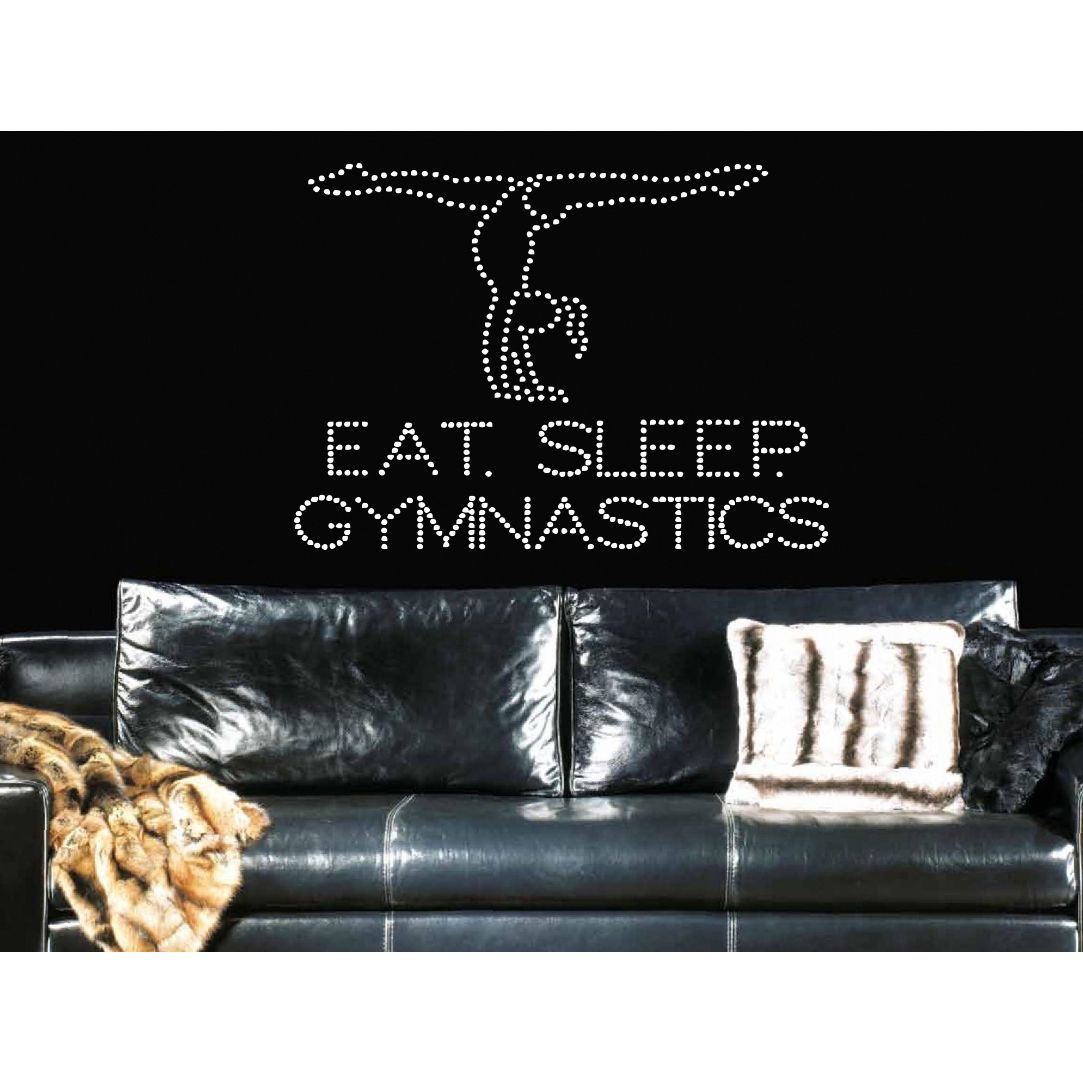 Eat sleep gymnastics wall art sticker decal white vinyls vinyl eat sleep gymnastics wall art sticker decal white amipublicfo Image collections