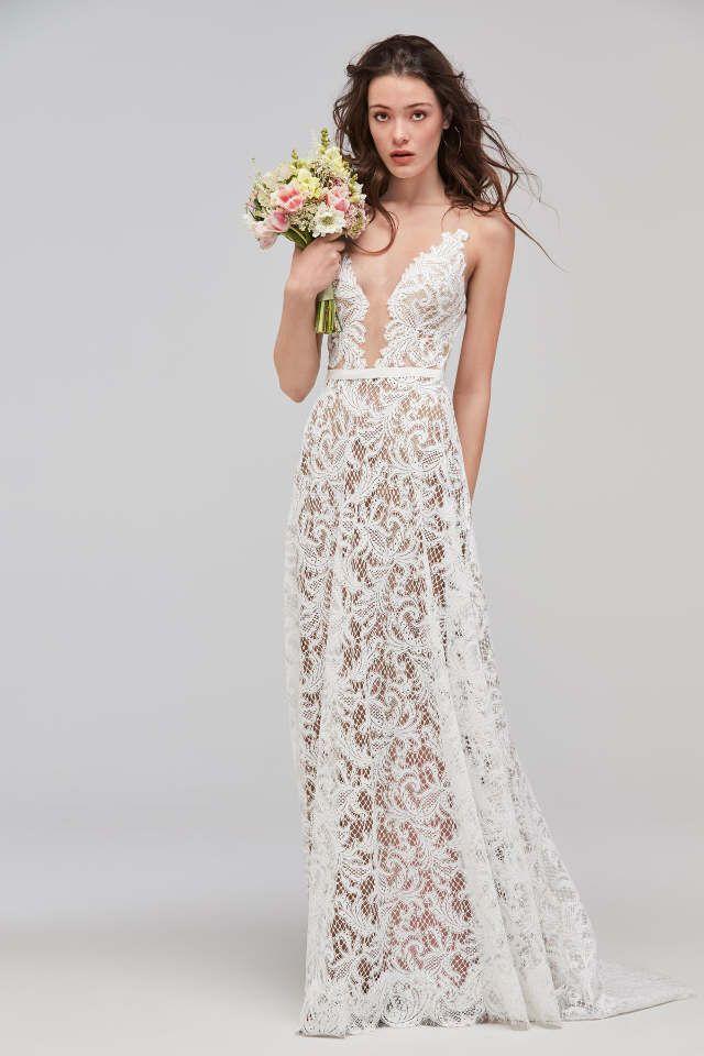 Grobe Spitze ist 2018 Trend . Auch bei den Vintage Brautkleidern ...