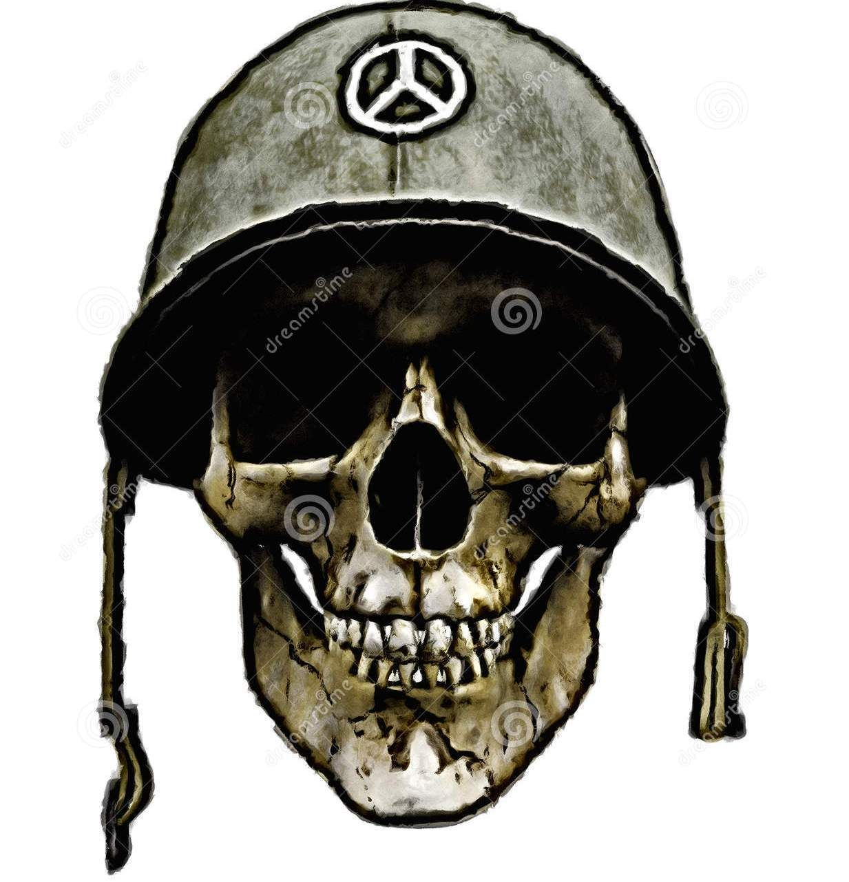 American Army Helmet Dead Soldier Tattoo Design | Bike ...