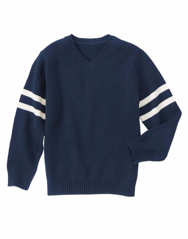 NWT Gymboree Boys Long Sleeve Sweater Navy Pullover Size 7-8