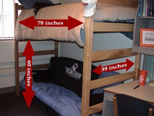each room at bgsu has two loftable beds