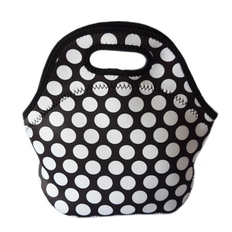 f1b86bd90 White dot thermal lunch bag bolsa termica neoprene office lunch box for  kids picnic food lunchbox thermal insulated cooler bags.