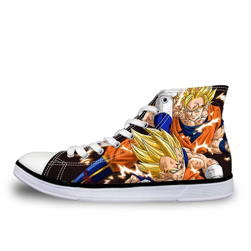 ✅🔥Dragon Ball Z Goku vs Vegeta High Top