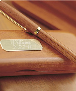 Personalized Rosewood Pen Set: Personalized Rosewood Pen Set