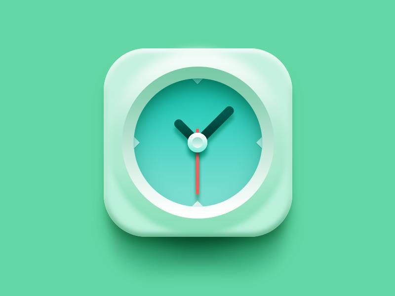Clock Icon Design Iphone Icon App Icon