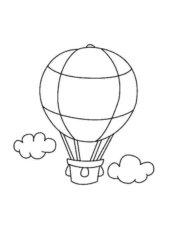 Hot Air Balloon Pictures To Color