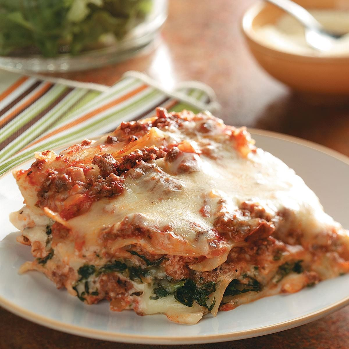 Ground Beef Spinach Alfredo Lasagna Recipe Recipes Food Ground Beef And Spinach