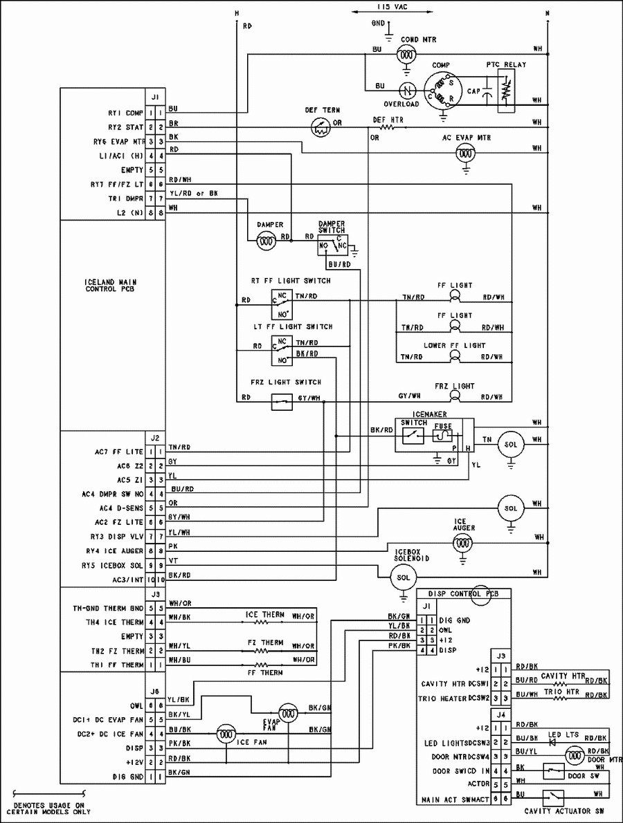 Image result for whirlpool GI6FDRXXY00 SCHEMATIC diagram | Ge refrigerator,  Diagram, Circuit diagram | Whirlpool Schematic Diagrams |  | Pinterest
