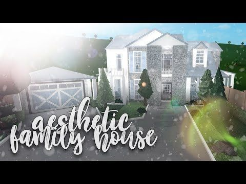Roblox Bloxburg Aesthetic Family House House Build Youtube In 2020 Family House Two Story House Design House Plans With Pictures
