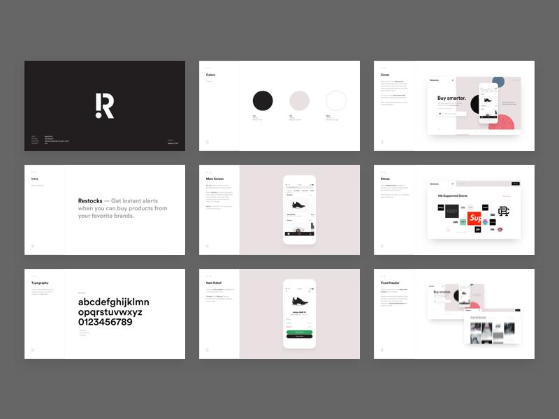 Restocks - Design Proposal Slides   UI Style & Brand