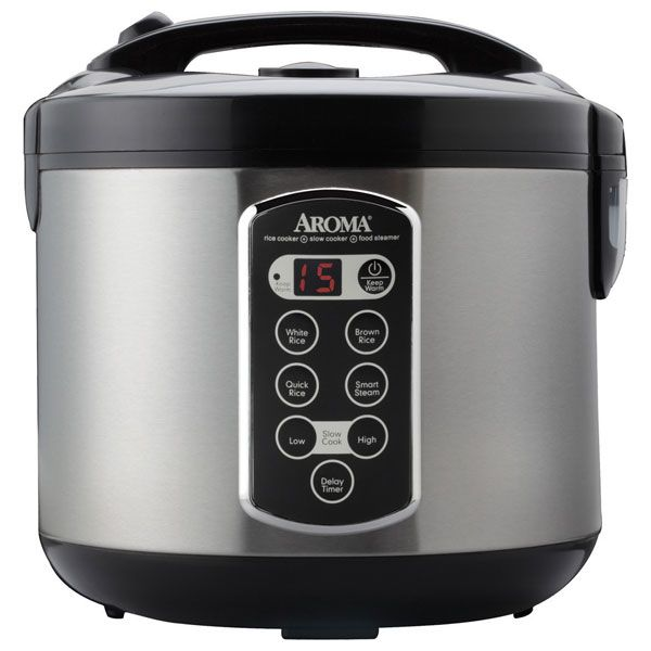 Professional 20-Cup (Cooked) Digital Cool-Touch Rice Cooker, Food Steamer and Slow Cooker @AromaHousewares