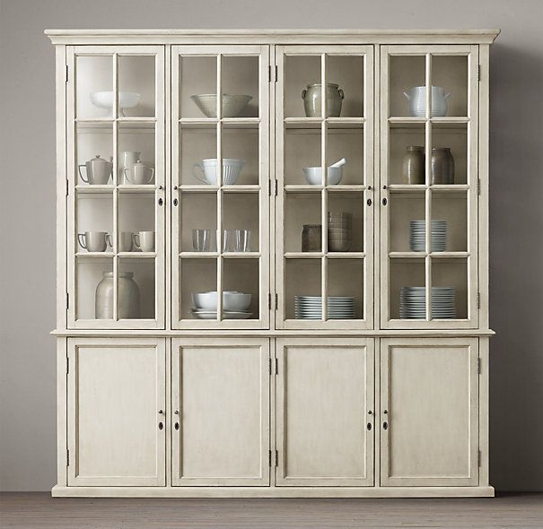 Hampton Casement Panel Sideboard Glass Hutch 88 X 77