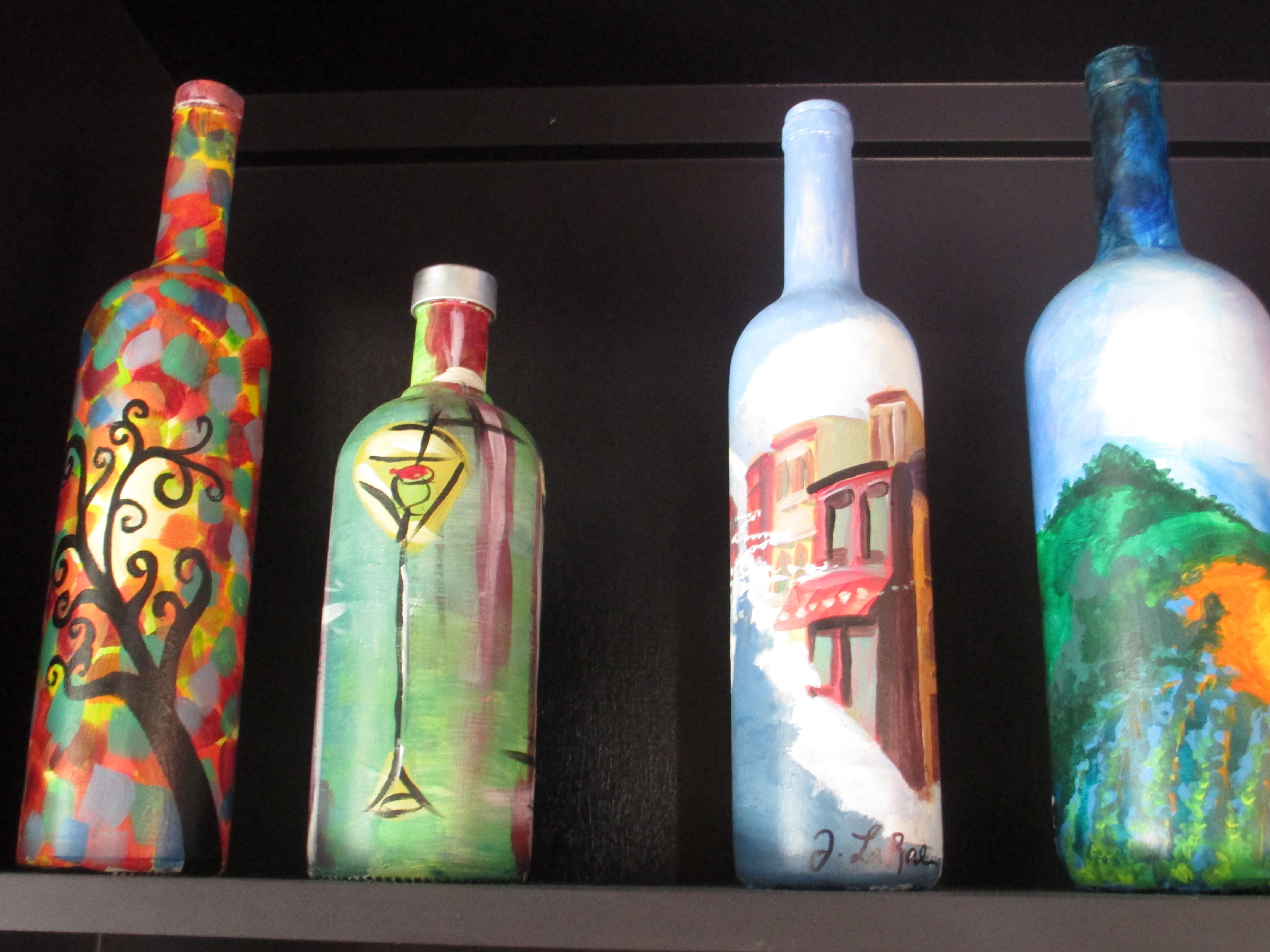 Images For > Wine Bottle Art Painting