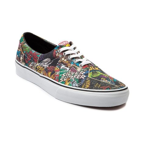 78d6fc43d53 Vans Era Marvel Comic Skate Shoe in Black at Journeys Shoes. Available  exclusively at Journeys!