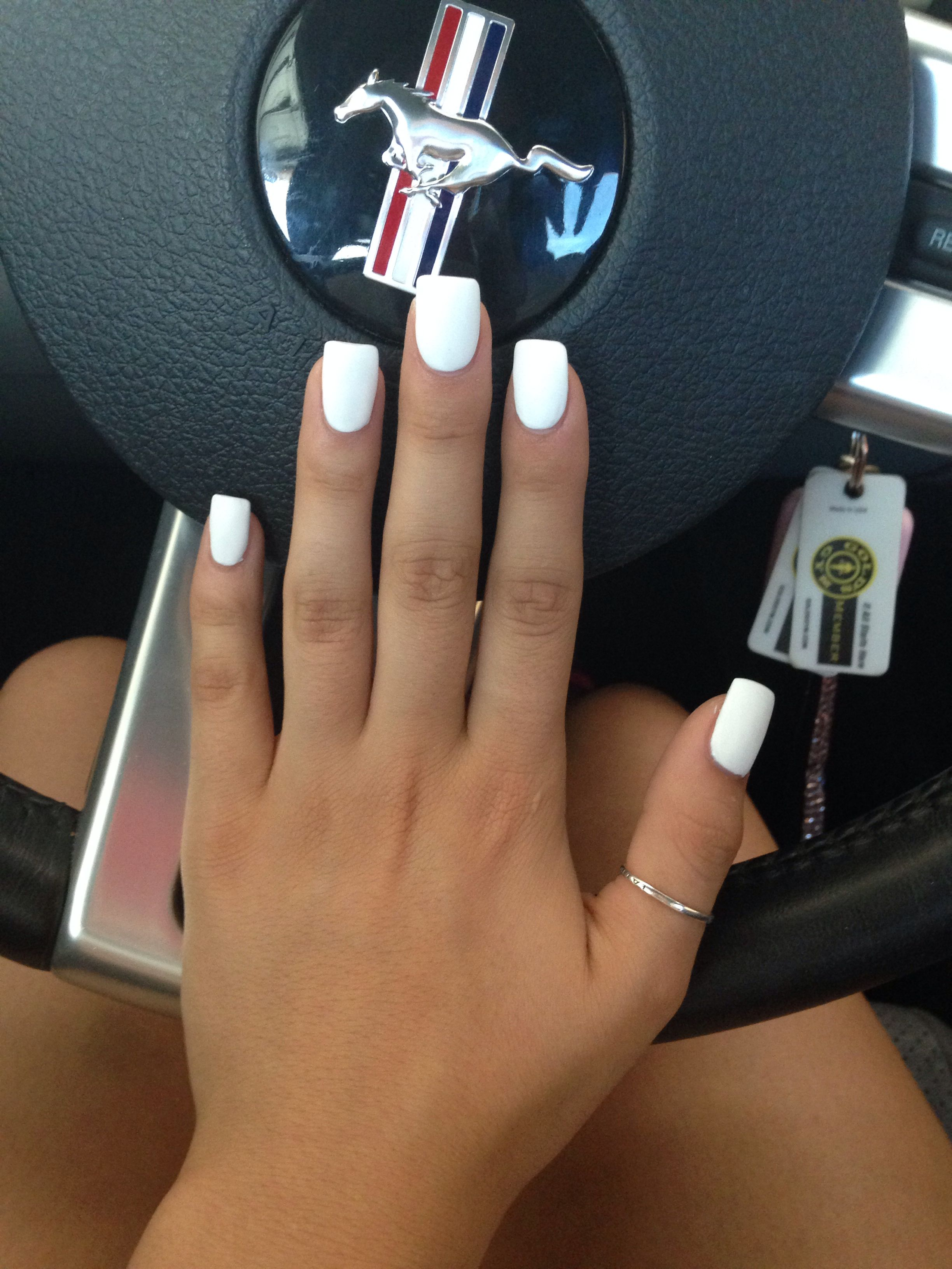 Fall 2014 Nail Trend: Matte Nails | Pinterest | White acrylic nails ...