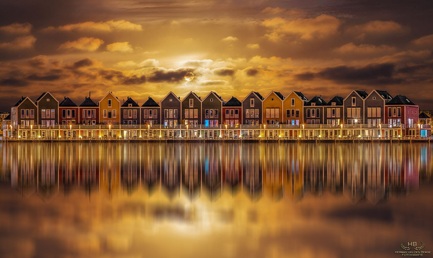 Golden Hour at Houten - Herman van den Berge   This shot was made out of 2 different exposures. Houten has some beautiful architecture which is so photogenetic....