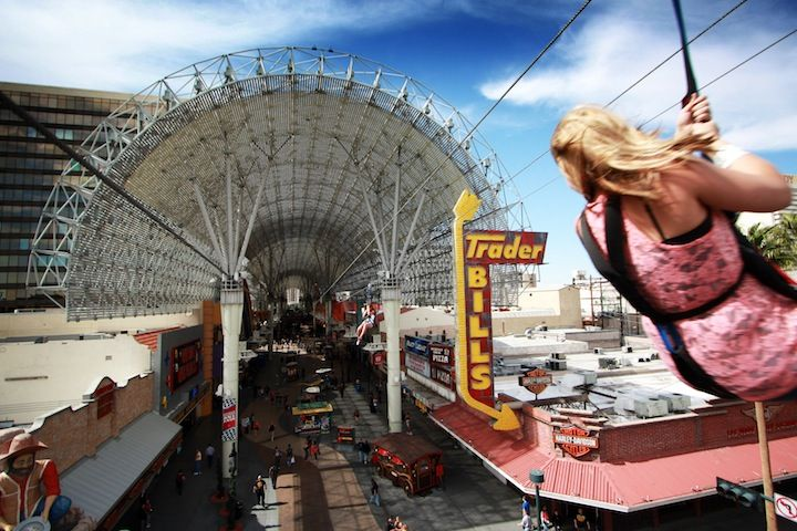 Zipline Over Fremont Street With Images Las Vegas Trip