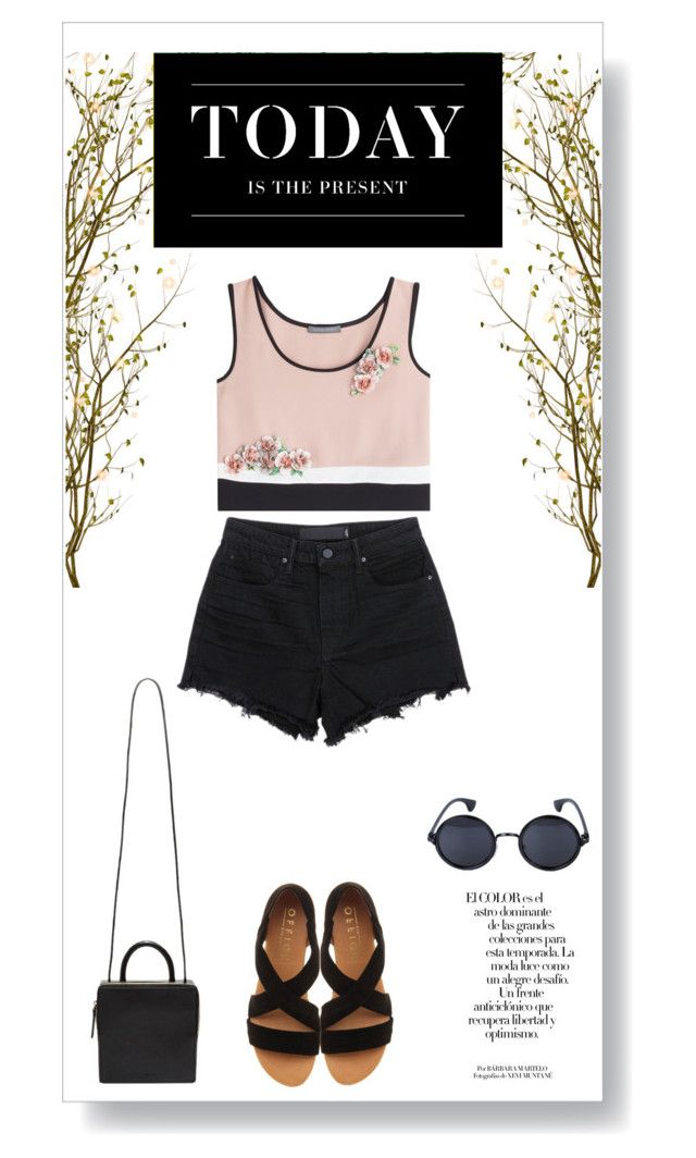 """""""Be present."""" by vigilexi ❤ liked on Polyvore featuring Levi's, Alberta Ferretti, T By Alexander Wang, Office, Building Block, Arco, women's clothing, women, female and woman"""