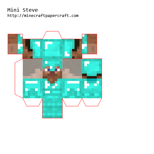 Papercraft Mini Steve With Diamond Armour Fixed Diy Minecraft Minecraft Blocks Minecraft Crafts