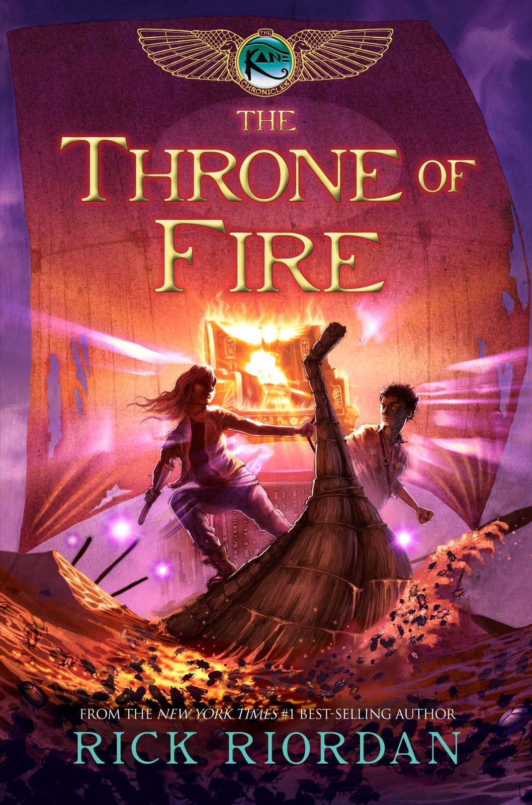 The Throne Of Fire By Rick Riordan Second In The Kane Chronicles