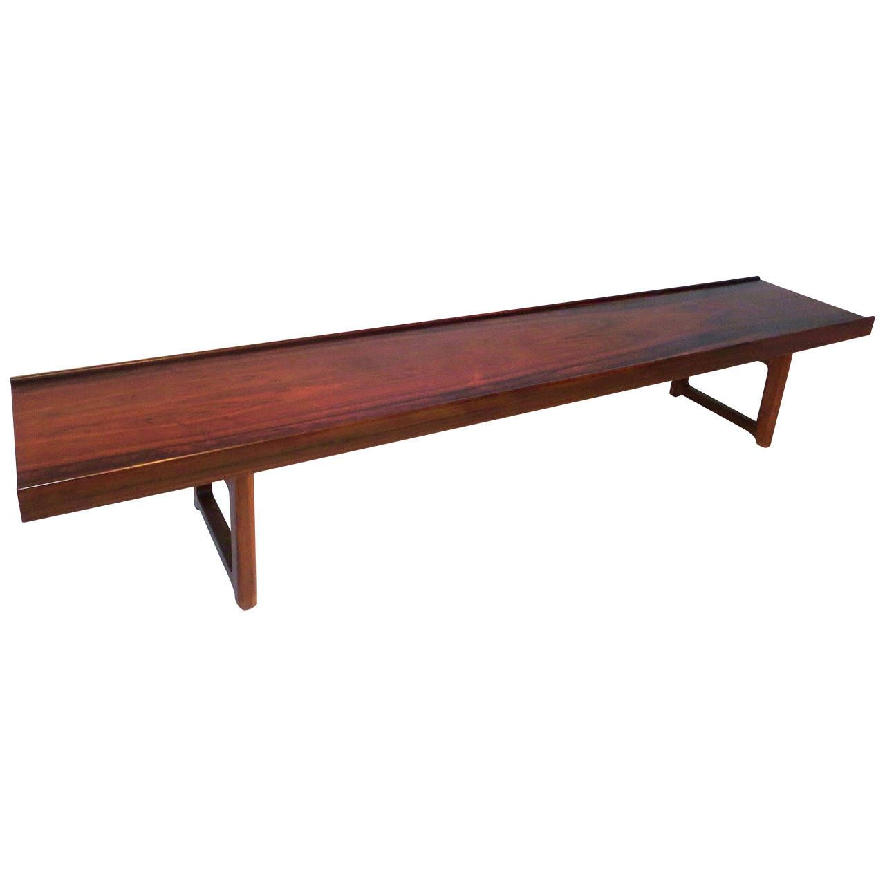 Long Table Benches Long Low Profile Bench Or Coffee Table In Rosewood