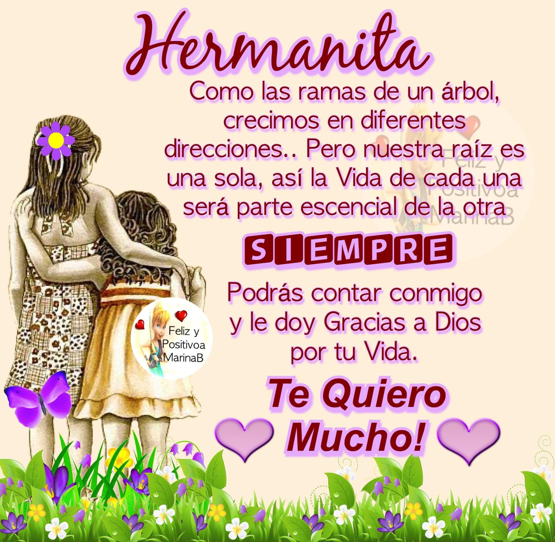 Hermanita Sisters Feliz Cumplaños Hermana Te Quiero Mucho