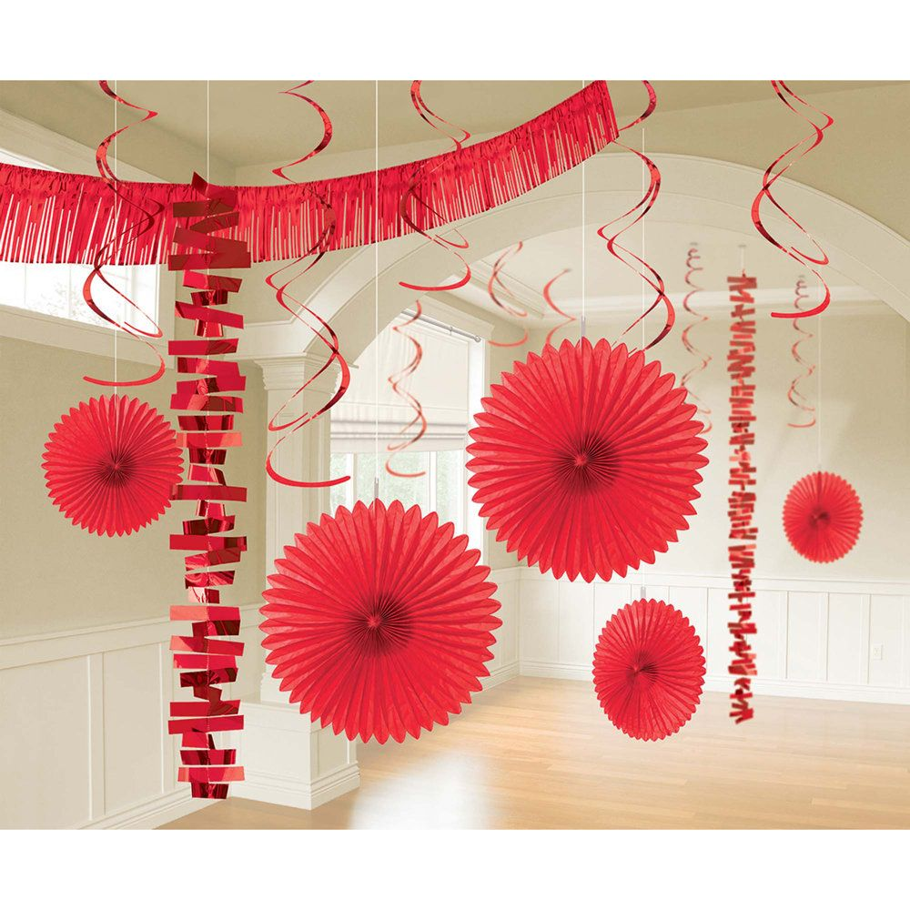 Glamorous red decoration kit  fun party try solid color kits for birthday christmas at partybell also valentines day decorations pinterest rh