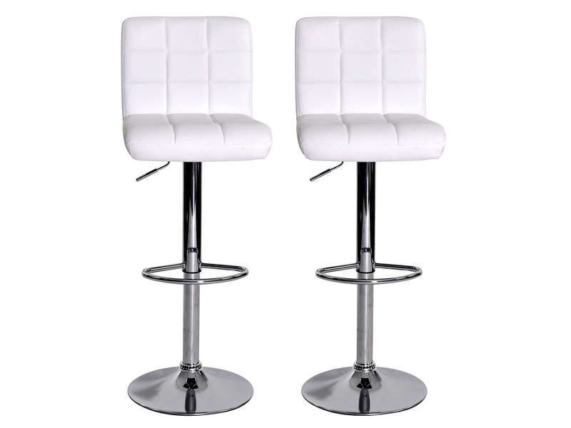 Cool Lot De 2 Tabourets De Bar NALA Coloris Blanc - Conforama Check