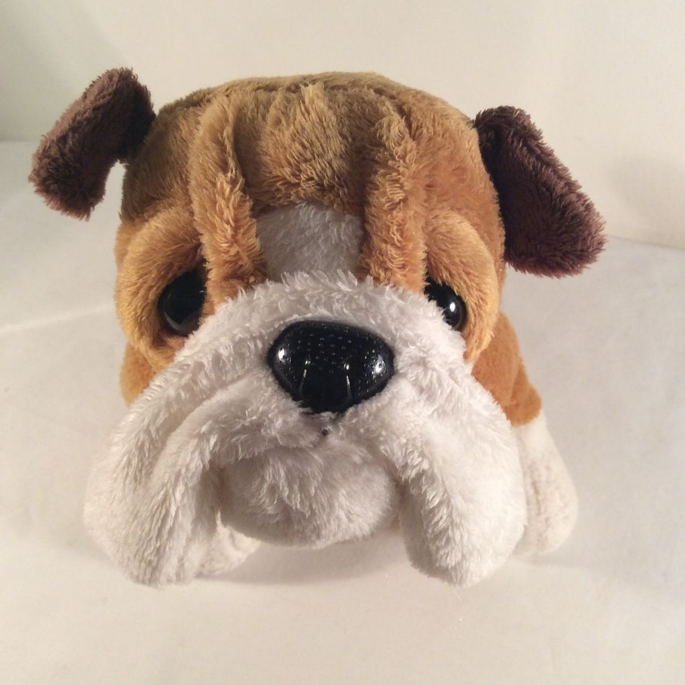 Ganz Webkinz Plush Bulldog Puppy Hm126 Stuffed Animal 9 In Brown
