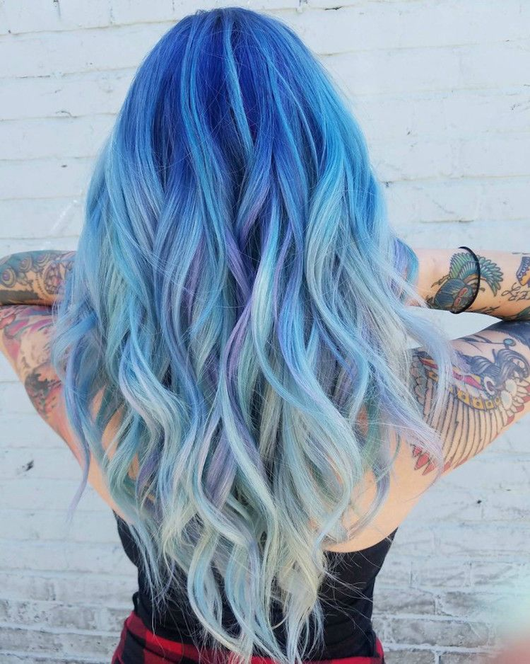 Blaue Haare wie der Ozean (30 | Haar Ideen | Pinterest | blaue Haare ...