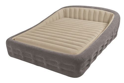 Frame Air Mattress Air Bed Headboard Inflatable Portable Queen Size