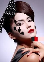 spade card face paint  Image result for ace of spades makeup in 7 | Halloween ...