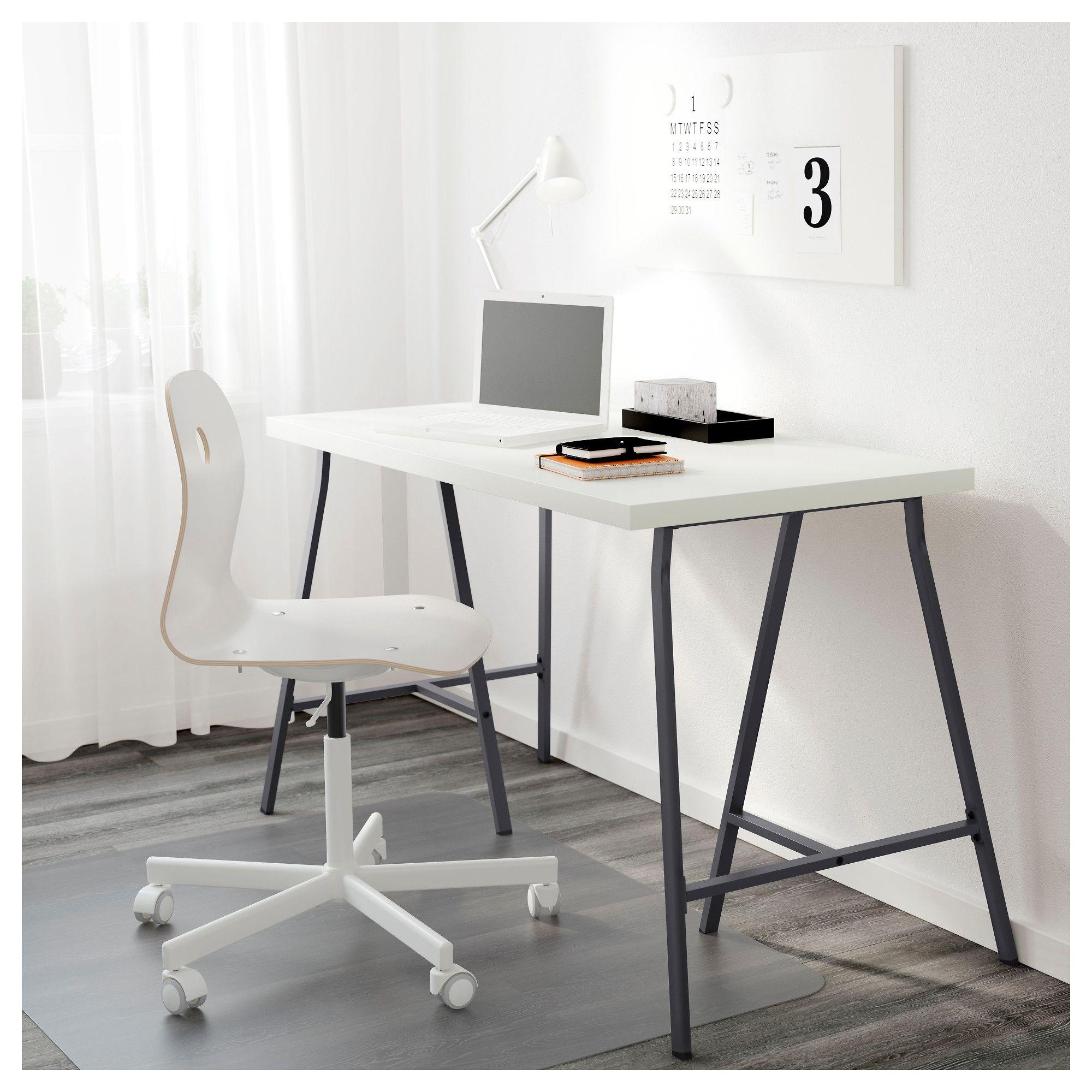 Linnmon Lerberg White Grey Table 120x60 Cm Ikea Cheap Office Furniture Classic Office Furniture Home Office Design