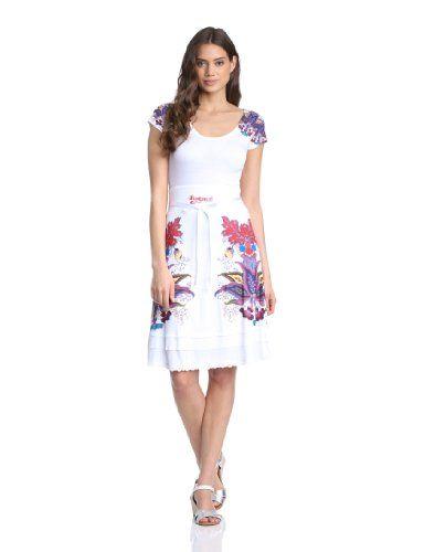 Desigual Été Femme Febrero Robe BlancblancoXs TJcF1l3uK5