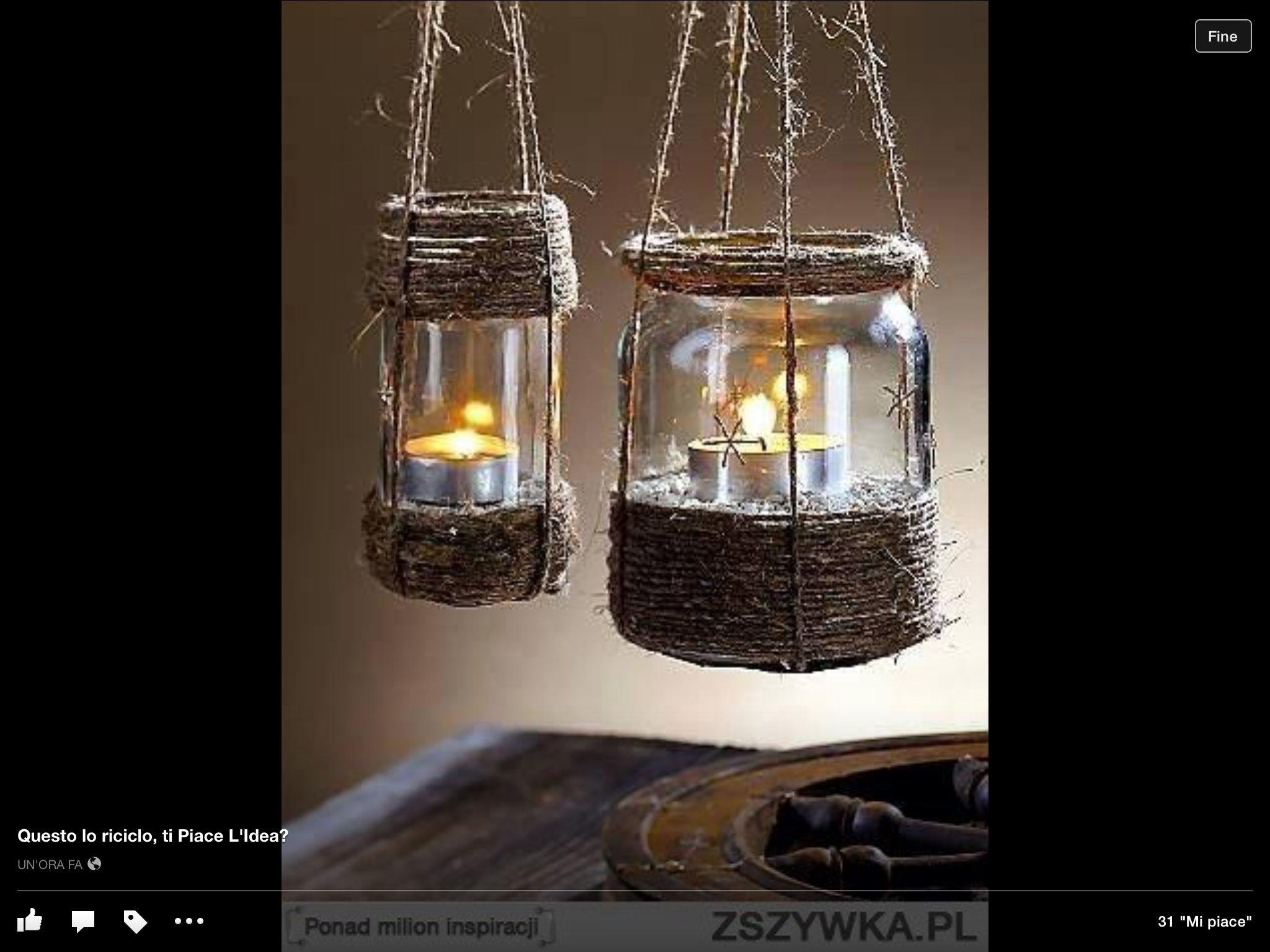 lanterne corda e spago pinterest. Black Bedroom Furniture Sets. Home Design Ideas