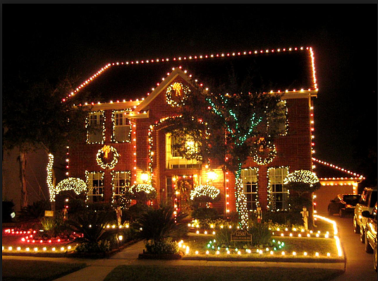 The Wow Factor Home Staging With Liveable Design Christmas Light Displays Hanging Christmas Lights Christmas Display