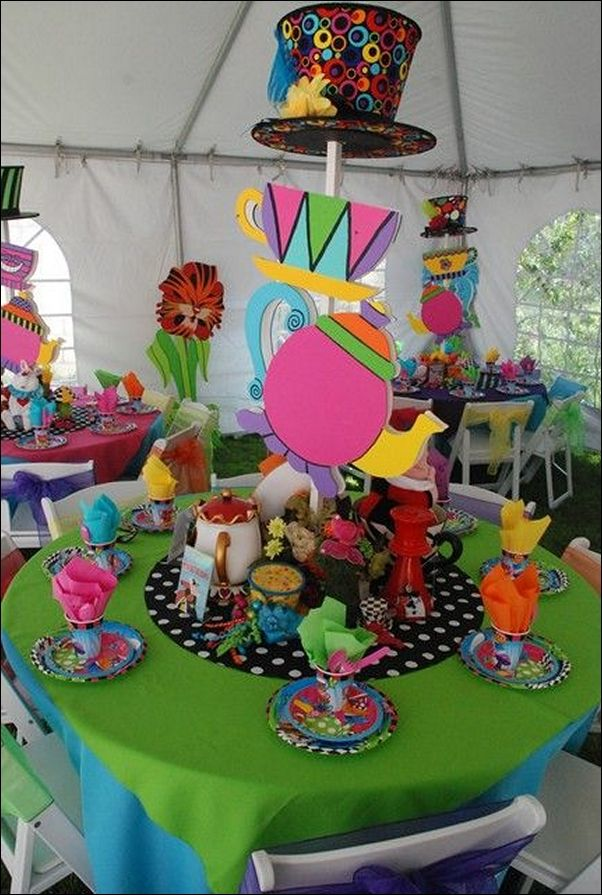 homemade alice in wonderland party decorations