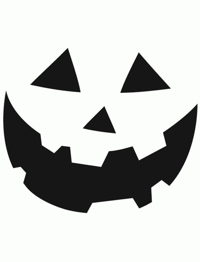 Halloween Pumpkin Faces Templates