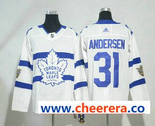5555db475 Men s Toronto Maple Leafs  31 Frederik Andersen White 2018 Winter Classic  Stitched NHL Hockey Jersey. Find this Pin and more on Hockey Jerseys ...