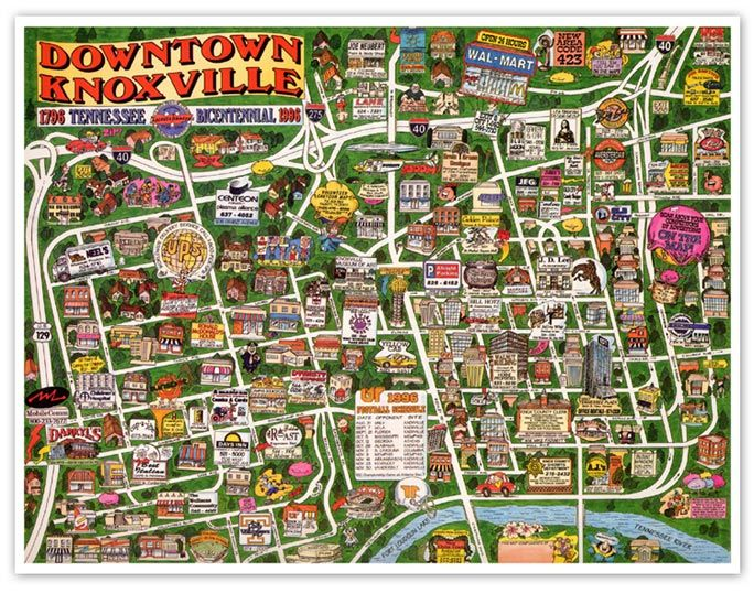 knoxville cartoon map To see other Map Samples click here