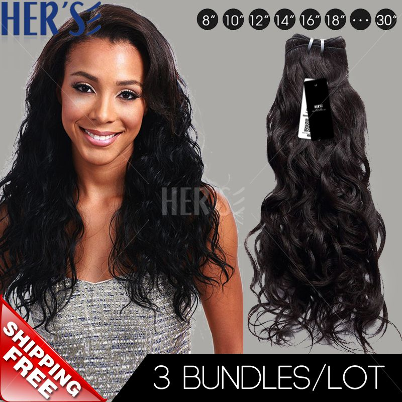 (Buy here: http://appdeal.ru/2w77 ) Unprocessed Indian Virgin Hair Weave,100% Human Hair Extensions,3pcs Natural Wave Sew In Indian Virgin Remy Hair Weave Bundles for just US $96.75